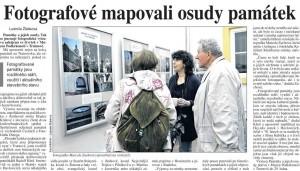 Článek o výstavě v deníku Právo, 15. října 2016.