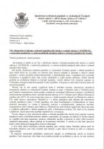 stanovisko SOPVČ k návrhu zákona o ochraně památkového fondu 1