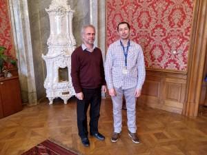 Zleva náměstek pro řízení sekce kulturního dědictví a příspěvkových organizací Ing. Vlastislav Ouroda, Ph.D. a předseda spolku Mgr. Rudolf Khol